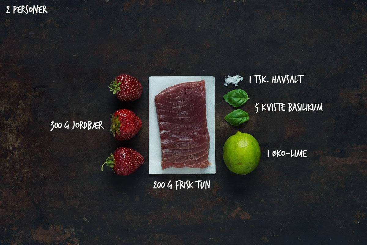 Opskrift: Tuntartar med jordbær og basilikum | Frk. Kræsen