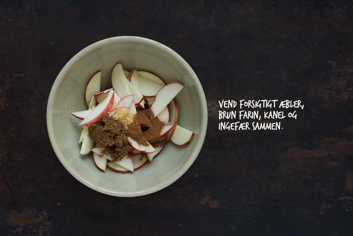 Opskrift: Klassisk æblecrumble | Frk. Kræsen