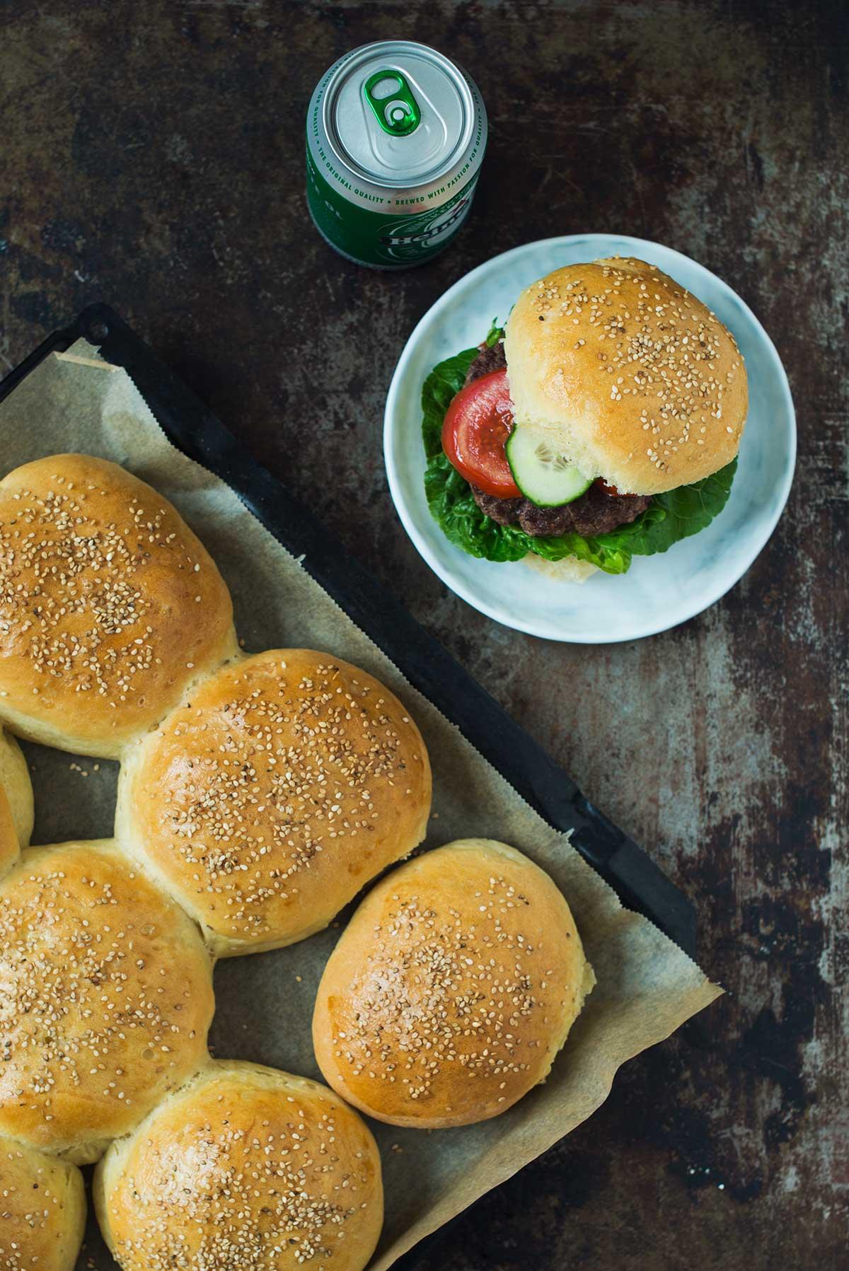Opskrift: Burgerboller | Frk. Kræsen