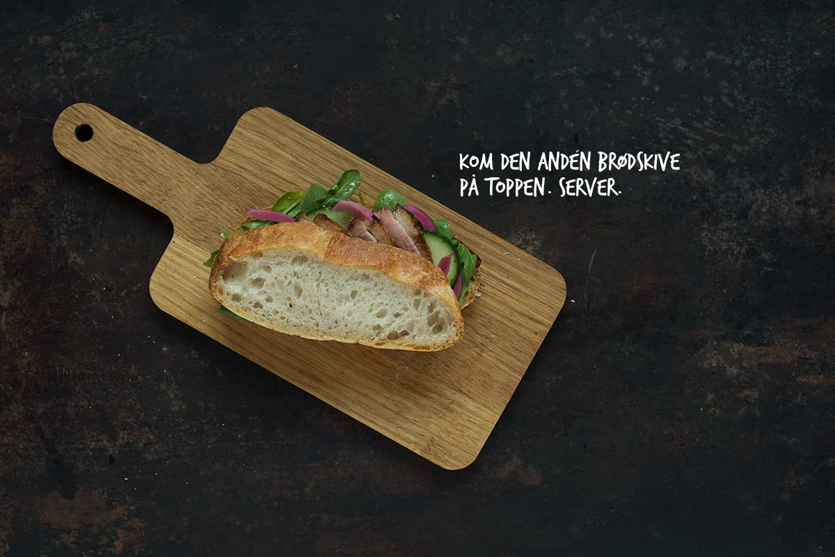Opskrift: Sandwich med and | Frk. Kræsen