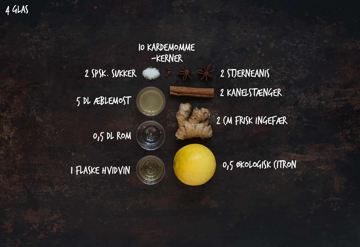 Opskrift: Hvid gløgg med æblemost | Frk. Kræsen