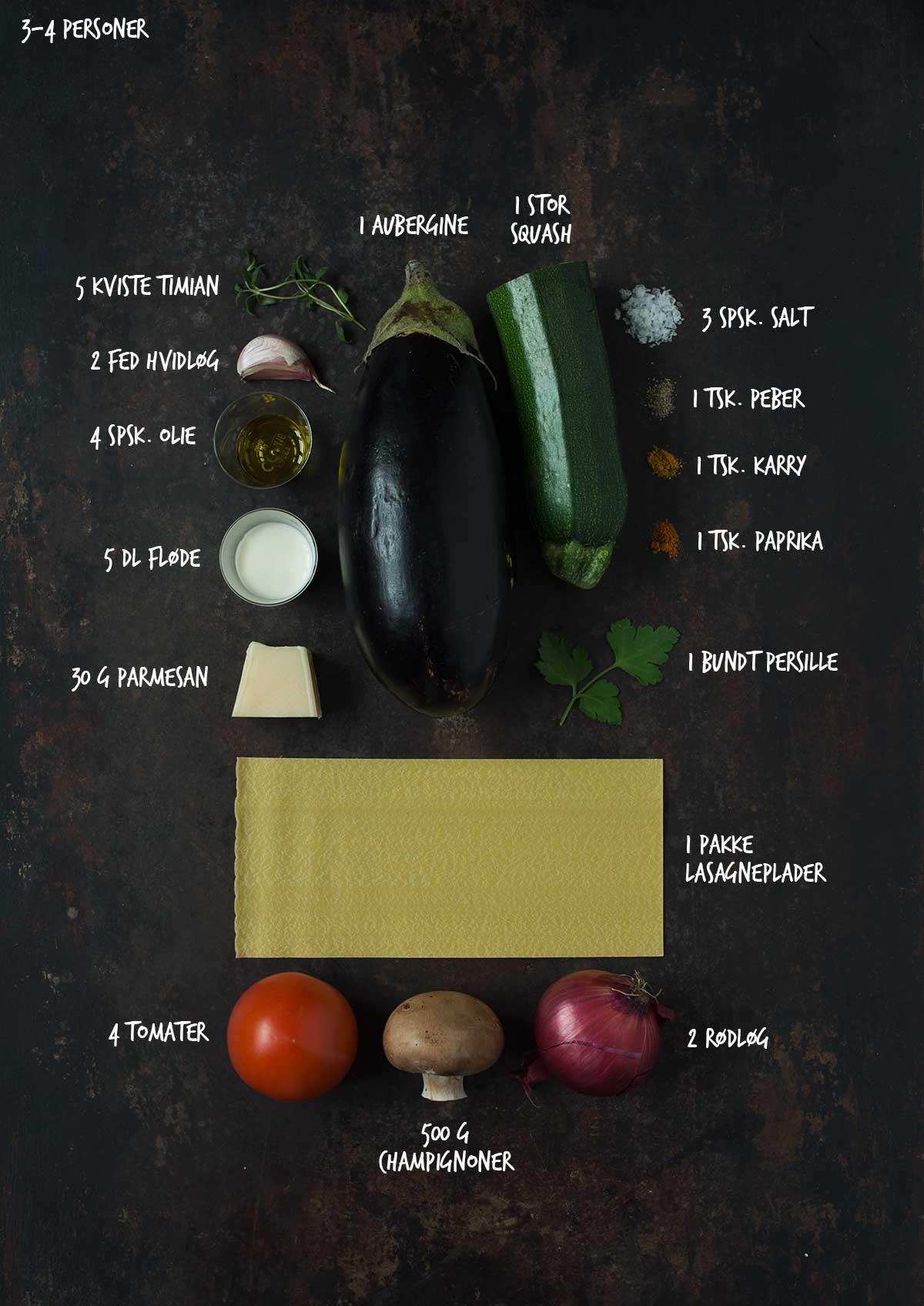 Opskrift: Vegetarlasagne | Frk. Kræsen
