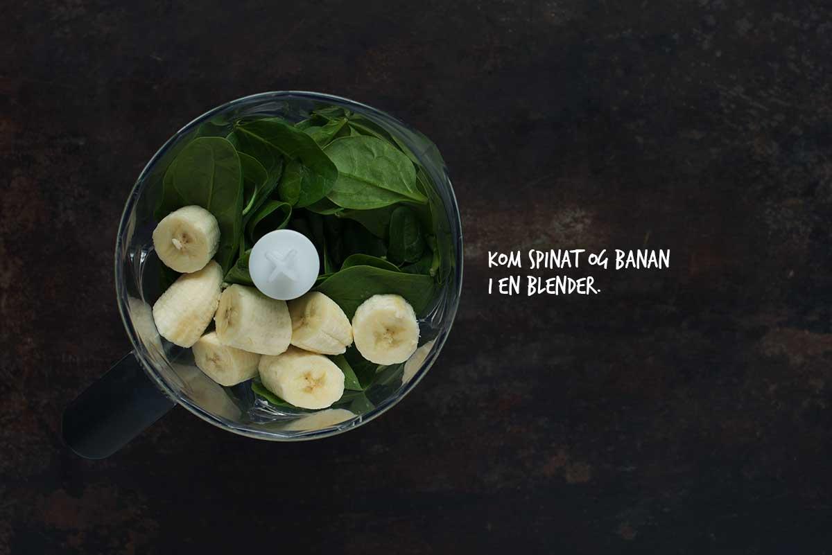 Opskrift: Bananpandekager med spinat | Frk. Kræsen