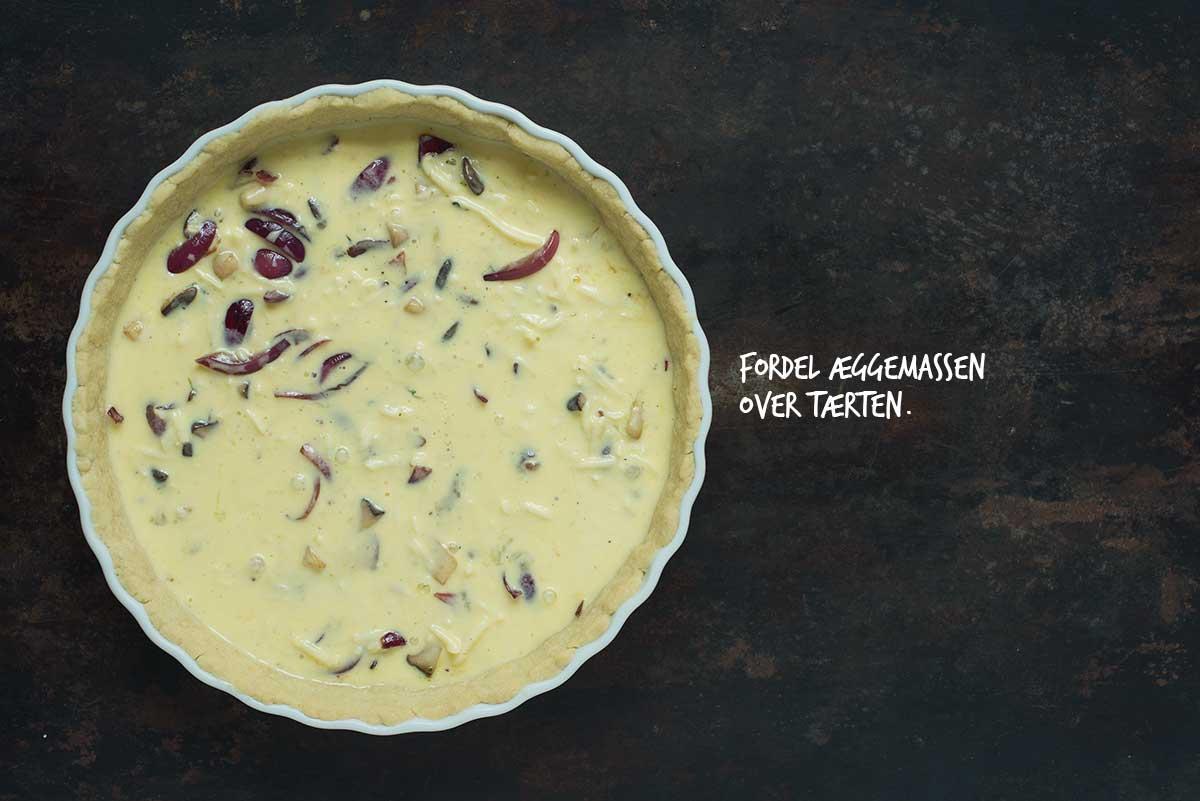 Opskrift: Tærte med svampe og karamelliserede rødløg | Frk. KræsenOpskrift: Tærte med svampe og karamelliserede rødløg | Frk. Kræsen
