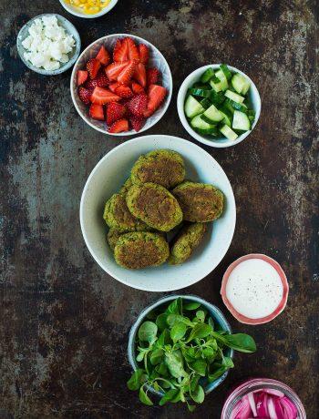 Opskrift: Falafel med ærter og citron | Frk. Kræsen