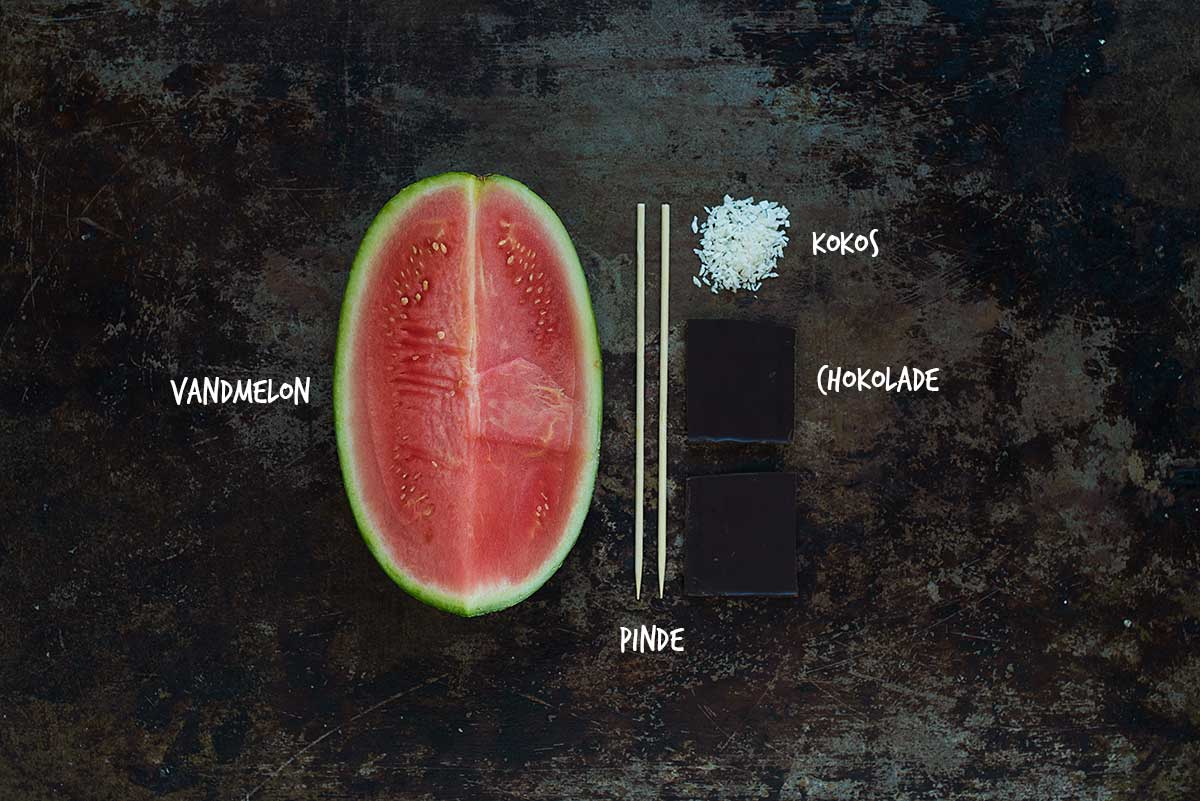 Opskrift: Ispinde med vandmelon og chokolade | Frk. Kræsen