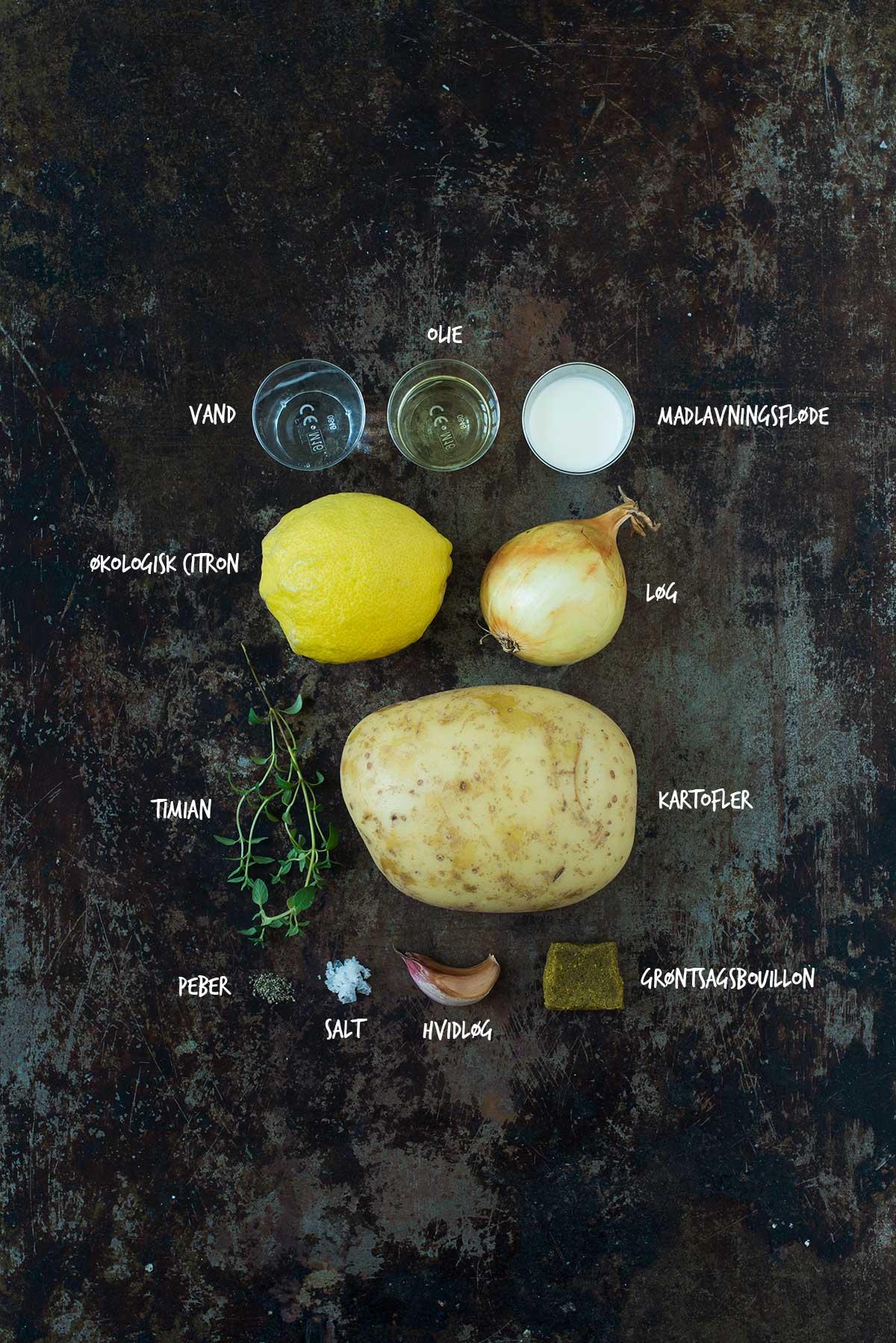 Opskrift: Kartoffelsuppe med citron og timian | Frk. Kræsen