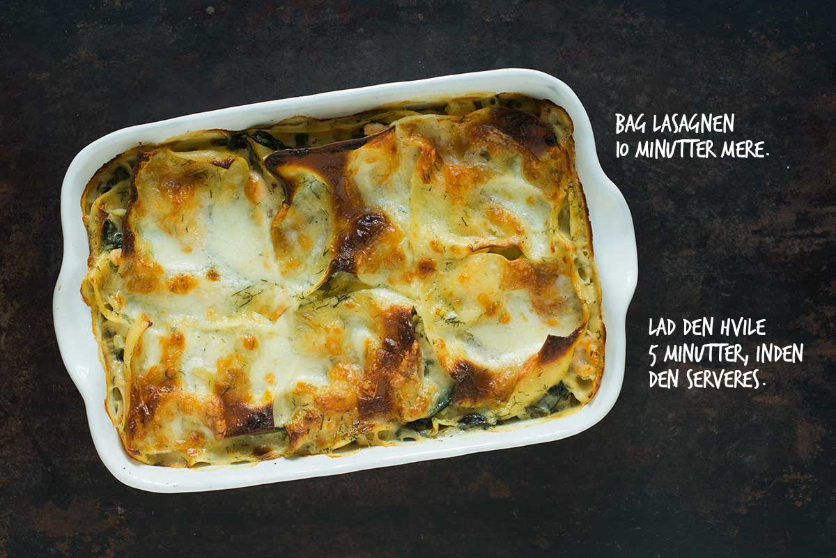Opskrift: Lasagne med laks og rejer | Frk. Kræsen