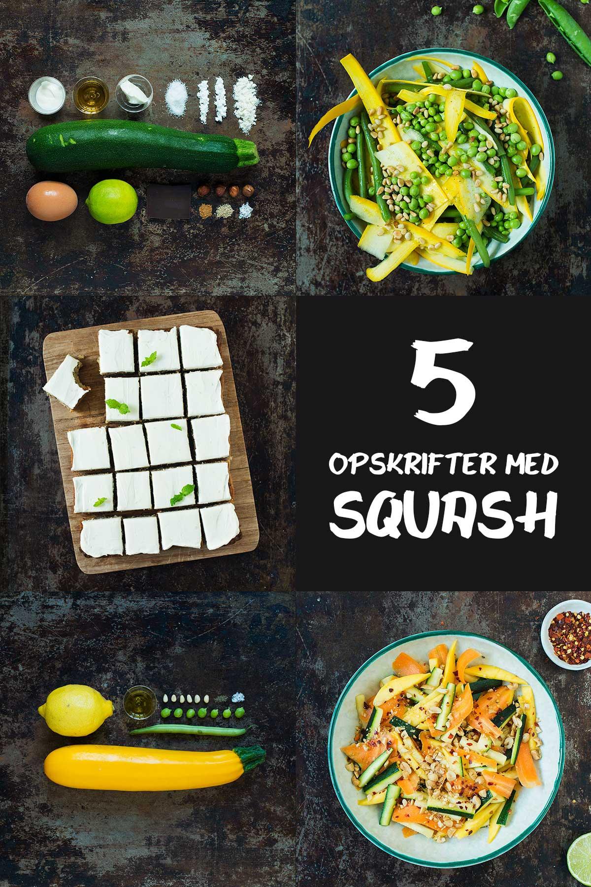 5 opskrifter med squash | Frk. Kræsen