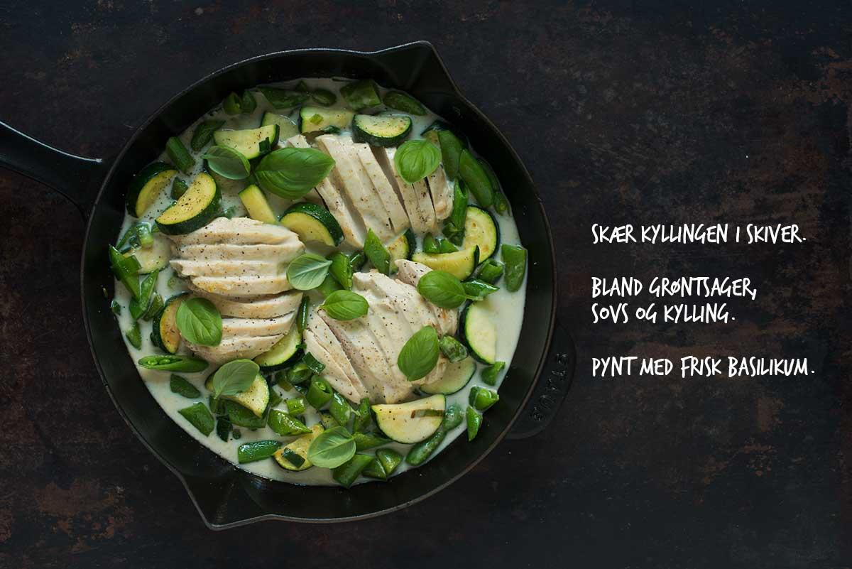 Opskrift: Kylling i grøn karry | Frk. Kræsen