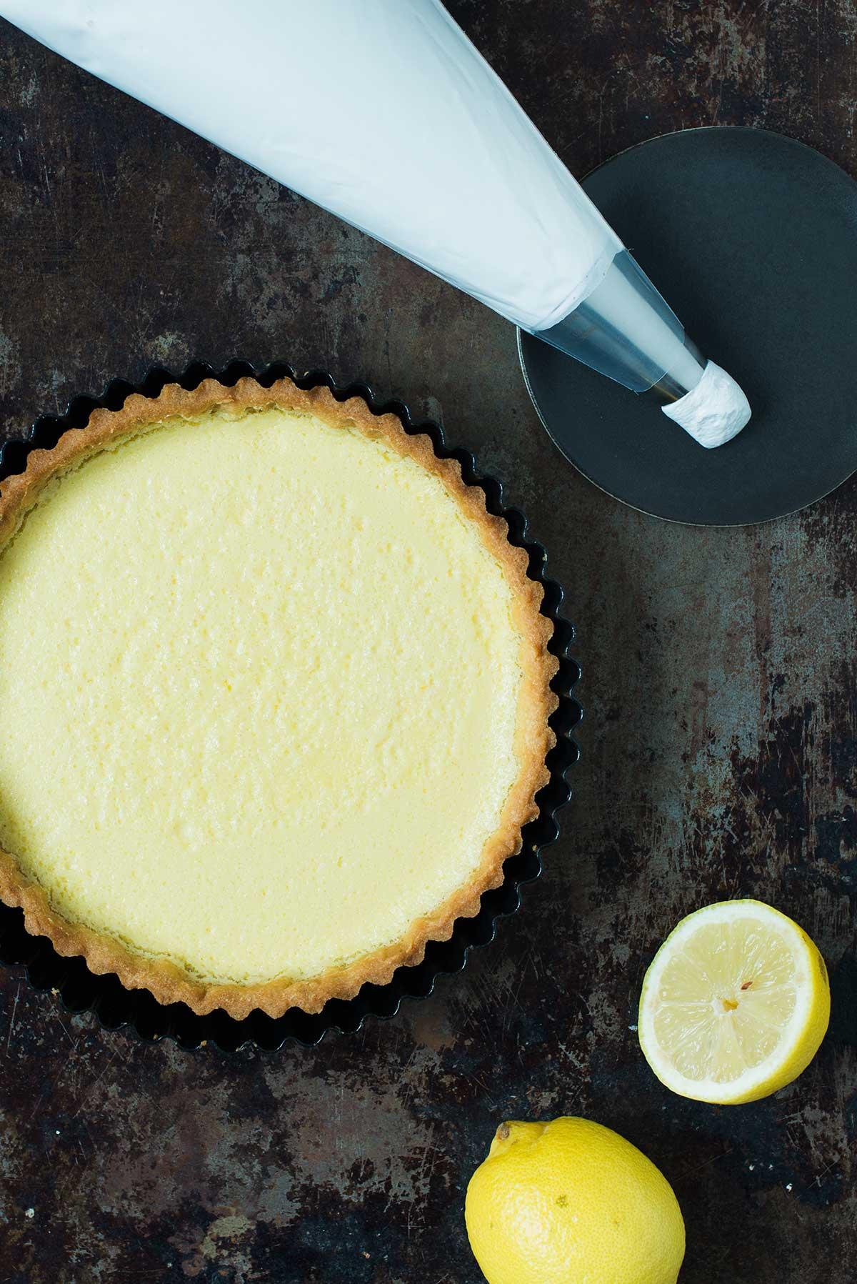 Opskrift: Citrontærte med marengs | Frk. Kræsen