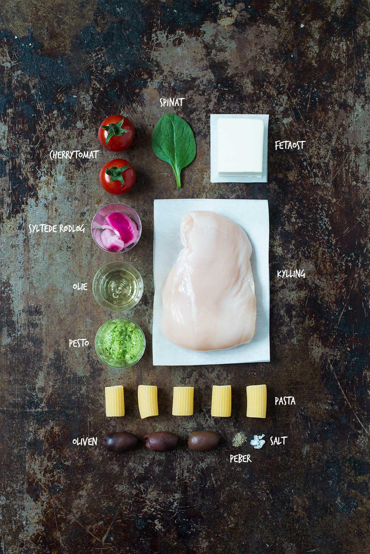 Opskrift: Pastasalat med pesto og kylling | Frk. Kræsen